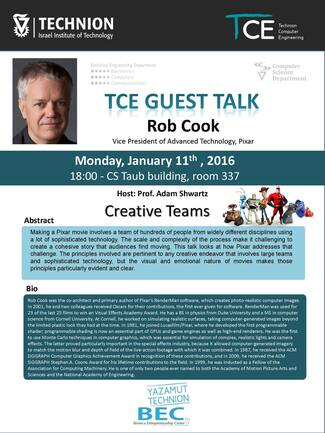 TCE Guest Lecture (Part II): Creative Teams