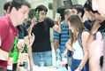 CS Faculty Members Serve Beer to Students in End-of-Year Celebration