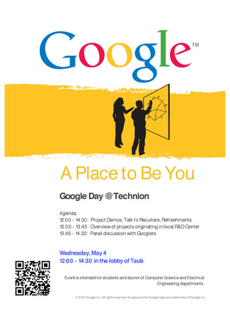 Google Day in CS Technion