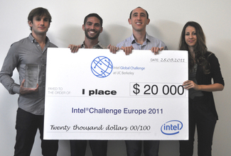 "CS students win first place in Europe ""Intel Challenge"" contest"