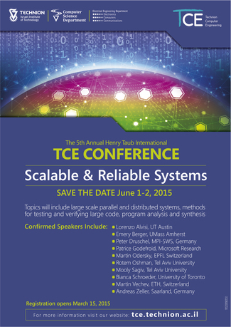 The 5th Annual International TCE Conference on Scalable and Reliable Systems