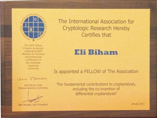 CS Dean Prof. Eli Biham Named IACR Fellow