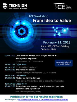 TCE Workshop: From Idea to Value