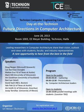 A-Day-at-the-Technion: Future Directions in Computer Architecture