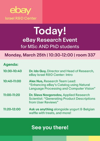 eBay Research Event at CS